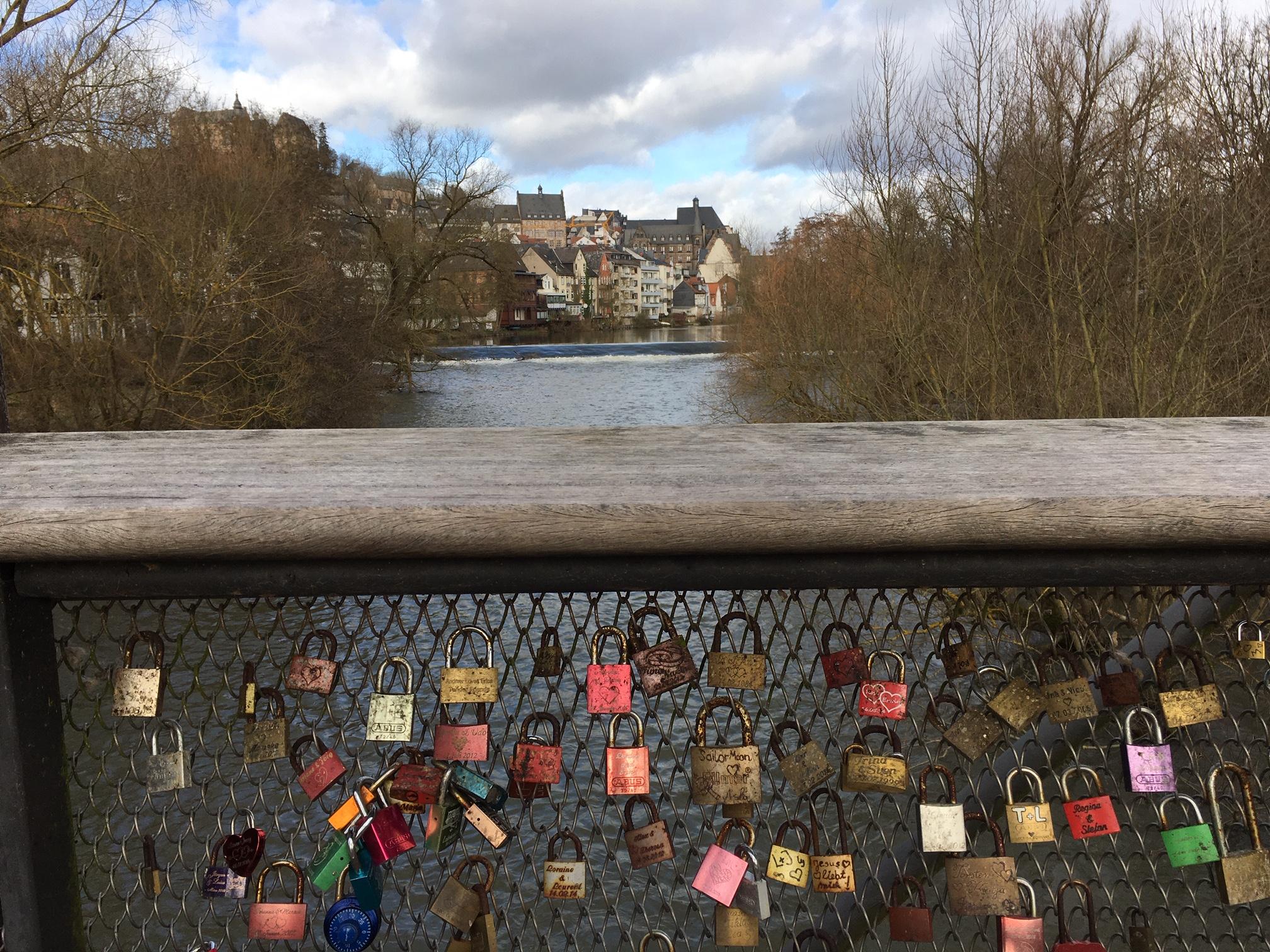 Utsikt från floden Lahn